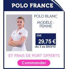Promo Polo France Femme Blanc