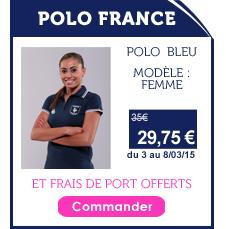 Promo Polo France Femme Bleu