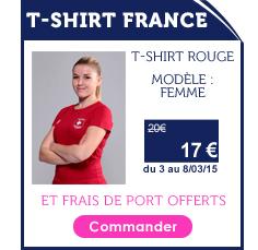 Promo T-shirt France Femme Rouge