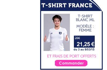 Promo T-shirt France Femme