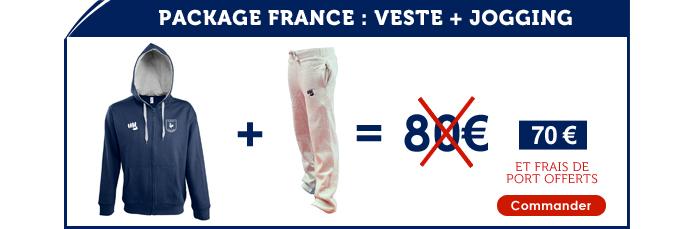 Package France : Veste + Jogging = 70 euros (fdp offerts)