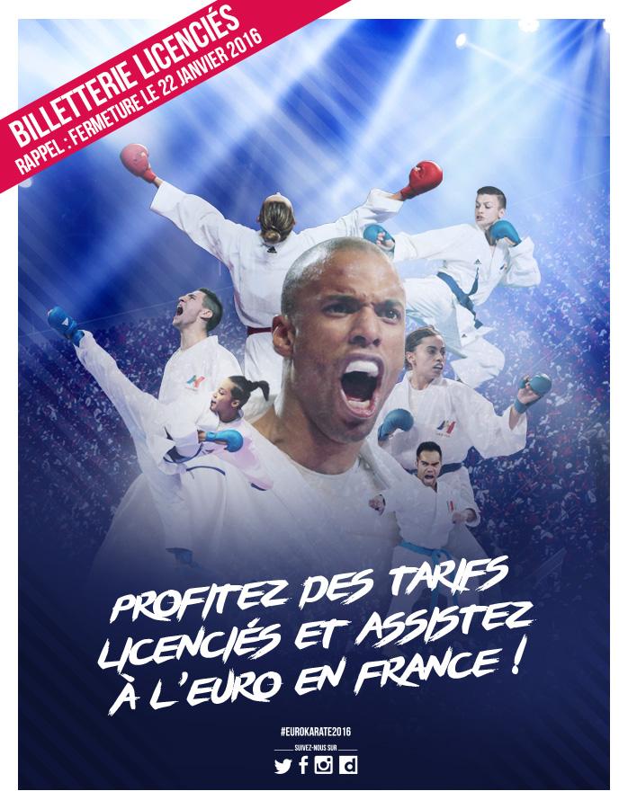 Billetterie licenciés - Profitez des tarifs licenciés et assistez à l'Euro en France ! - EuroKaraté2016