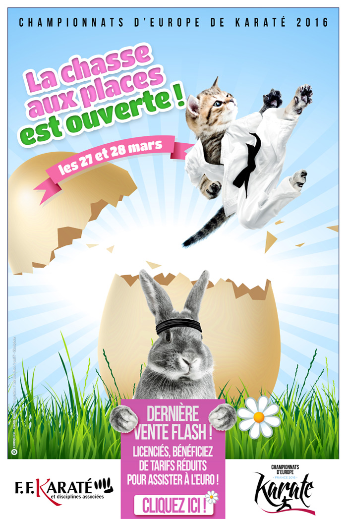 Pour la Journée de la Femme, j'invite mes copines ! - Vente flash les 8 et 9 mars 2016 réservée aux licenciés FFKDA - EuroKaraté2016
