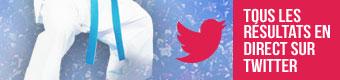 Tous les résultats en direct sur Twitter
