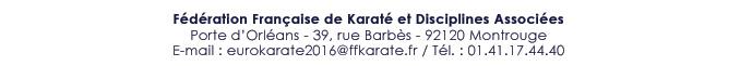 Fédération Française de Karaté et Disciplines Associées - 39 rue Barbès - 92120 Montrouge