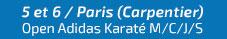 5 & 6 nov. - Open Adidas Karaté - Halle Carpentier (Paris)