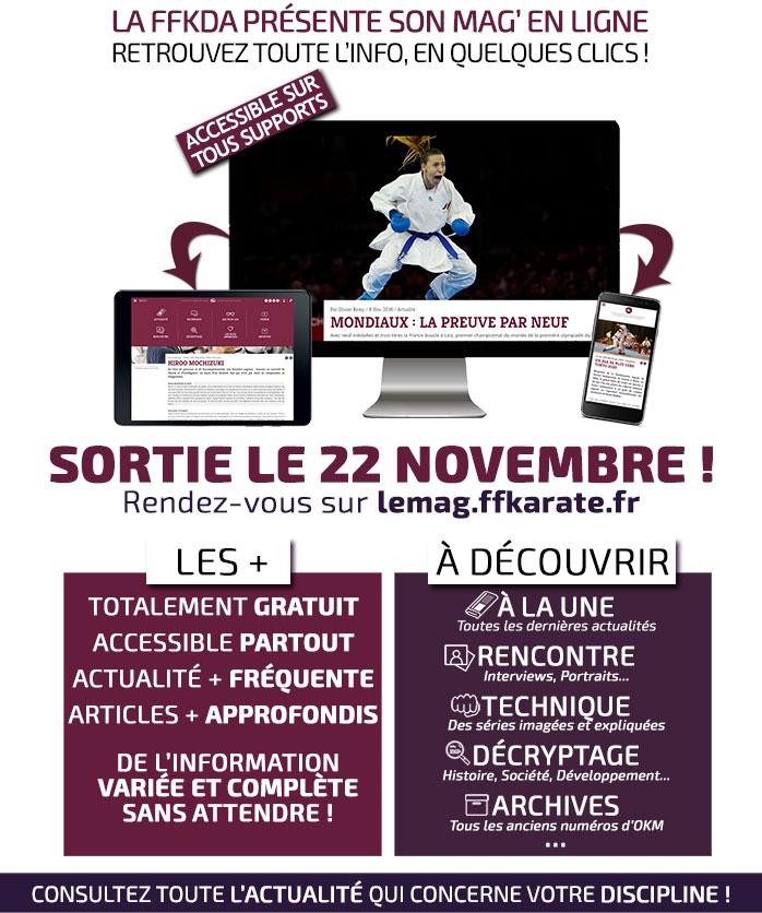 La FFKDA présente son mag' en ligne - Retrouvez toute l'info en quelques clics ! - Sortie le 22 novembre 2016