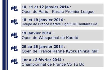 Agenda des prochaines compétitions