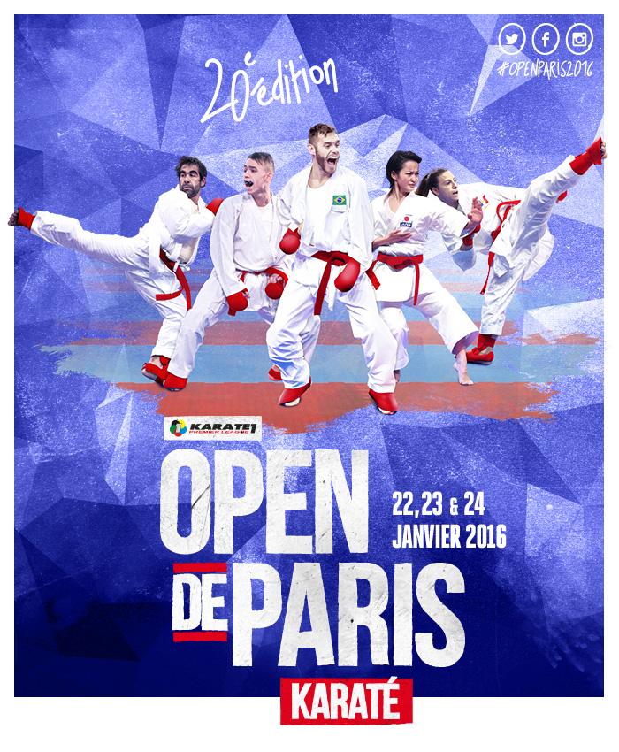 Open de Paris / Karate1 Premier League - 20è édition - 22, 23 et 24 janvier 2016 - Stade Coubertin / Paris 16è